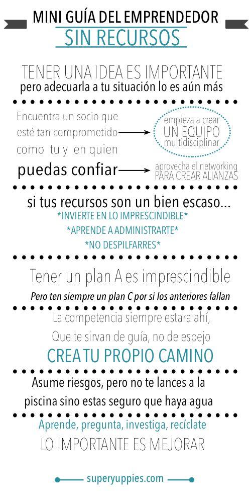 Me encantan las mini guías de Superyuppies! Comparto la de emprendedores sin recursos, para que NADIE se quede con las ganas de hacer sus sueños REALIDAD ^^