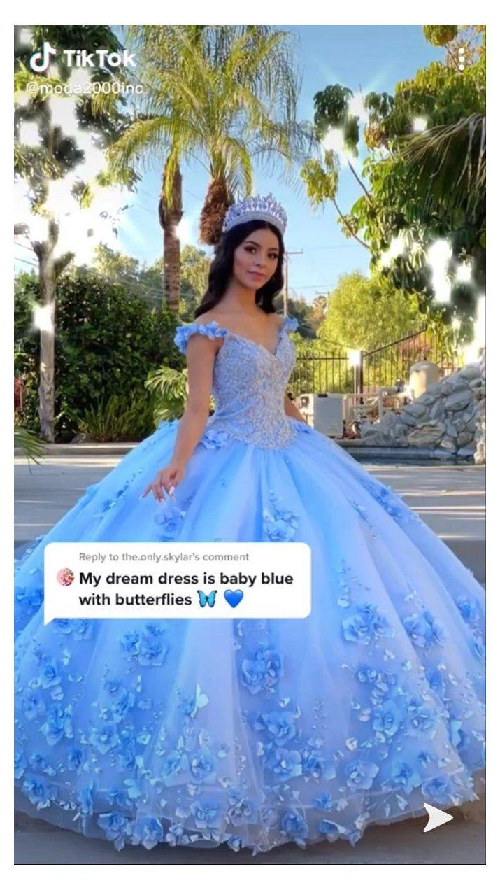 Baby Blue Quince Dresses Babybluequincedresses In 2021 Quinceanera Dresses Blue Quince Dresses Dresses Quinceanera Blue [ 1272 x 715 Pixel ]