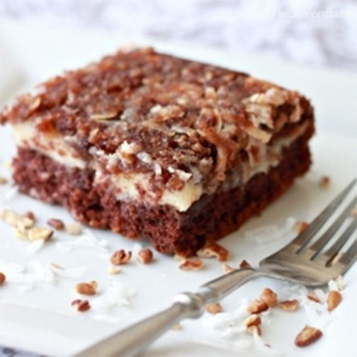 17 Best Images About German Chocolate Upside Down Cake On