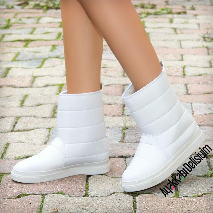Sibirya Beyaz Bot #white #winter #shoes