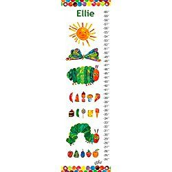 """Eric Carle's The Very Hungry Caterpillar (TM) by Eric Carle - Personalized Growth Charts, 12""""x42"""""""