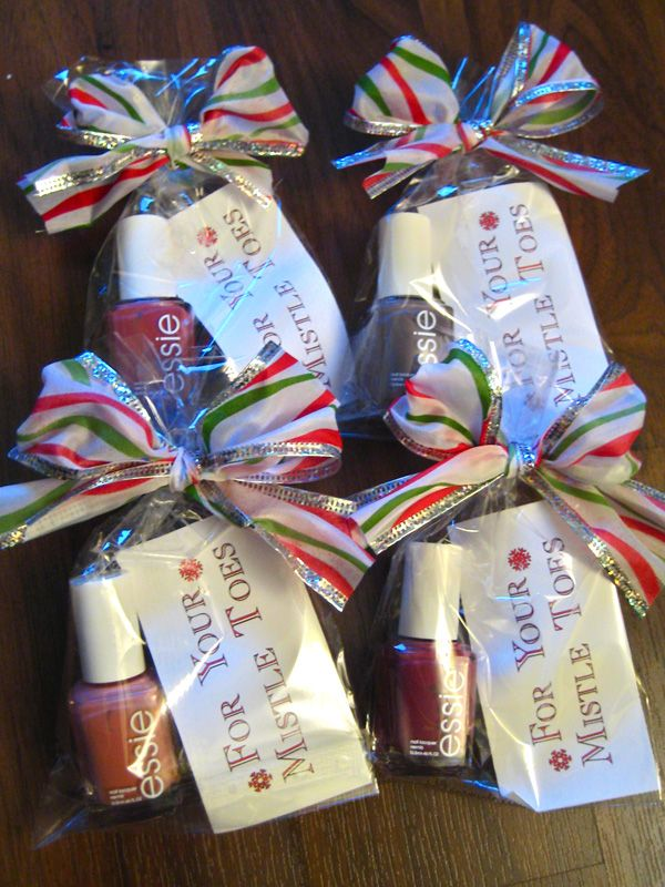 Christmas Party Ideas For Friends Part - 31: Diy, Nailpolish, For Your Mistle Toes - Gift For Friends
