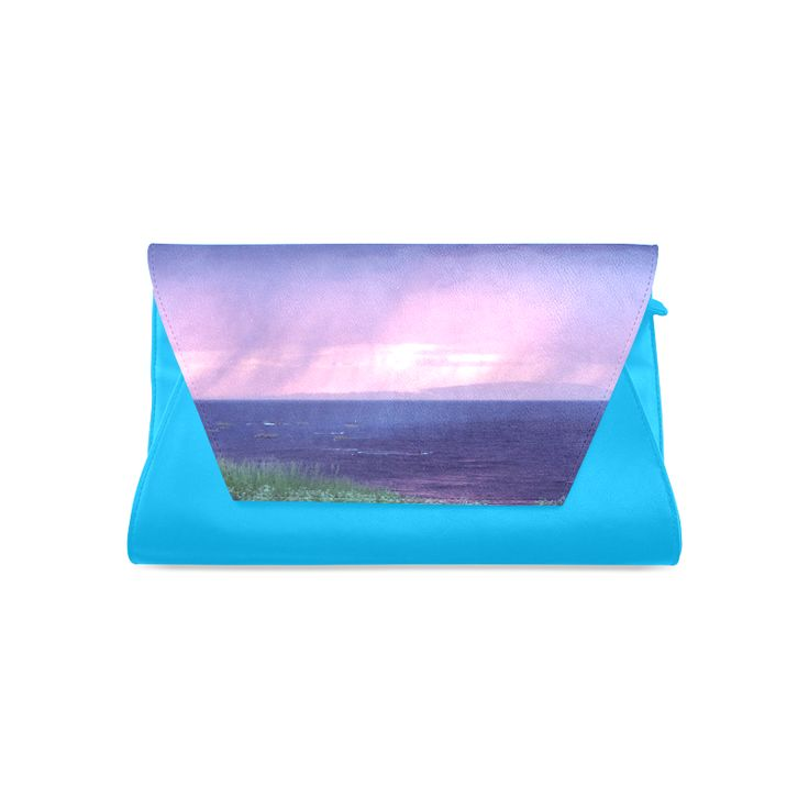 Purple Rain Clutch Bag (Model 1630)