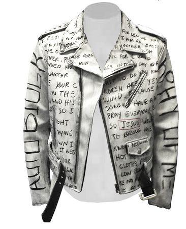 @Iam_RonBass Graffiti Leather Jacket.