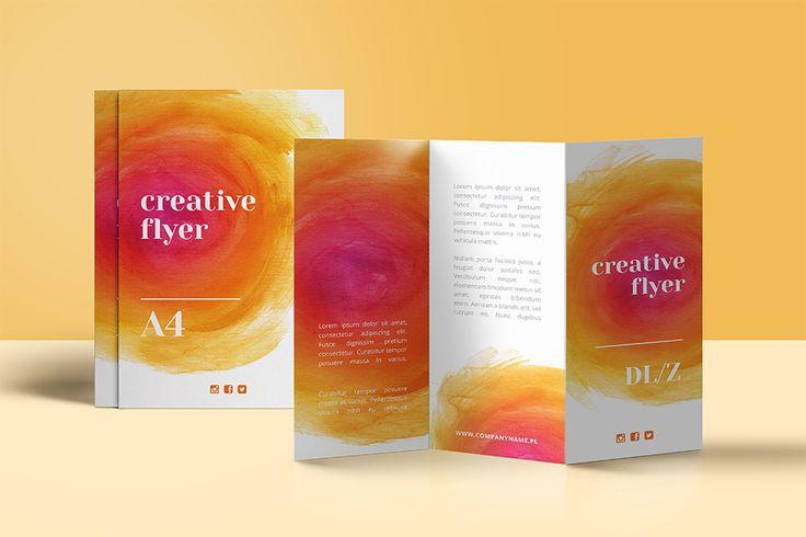 colour.me #ulotki składane do druku online #flyers #design and #ideas