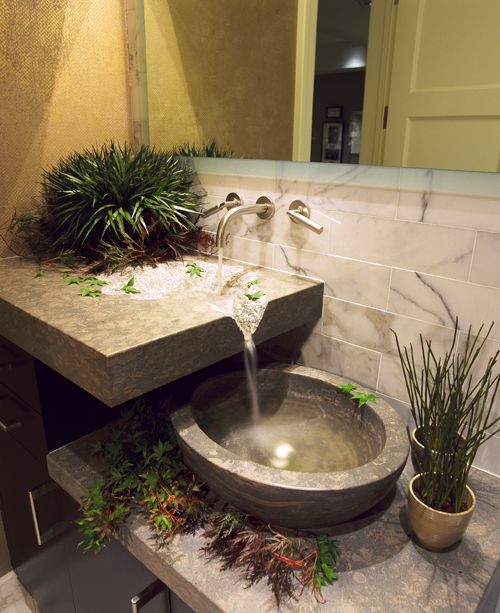 Maybe a daydream... Nice for the MBR. Repin: LOVE LOVE LOVE!!! Your Decorating Hotline - Vessel Sinks