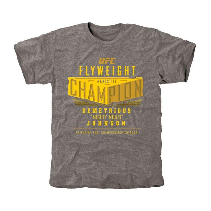 Demetrious Johnson UFC 186 Flyweight Champion Tri-Blend T-Shirt - Ash