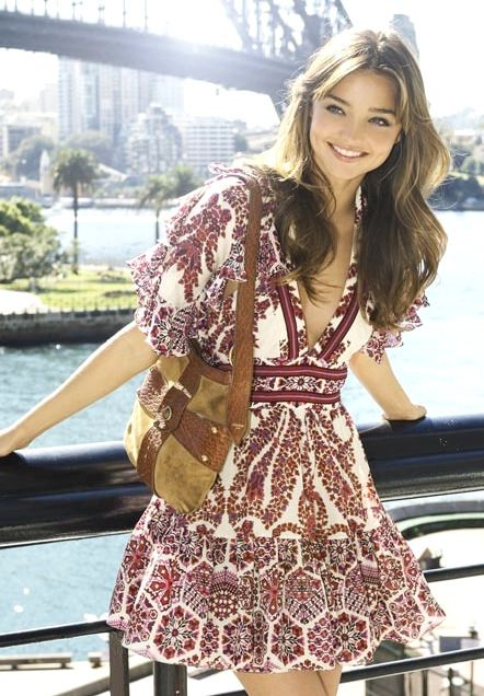 Miranda street style - printed mini dress