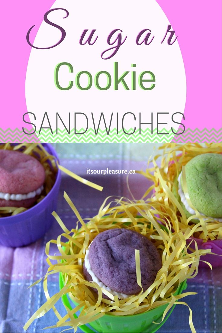 A great treat for Easter, these cookies are colourful, creamed-filled and absolutely delicious!