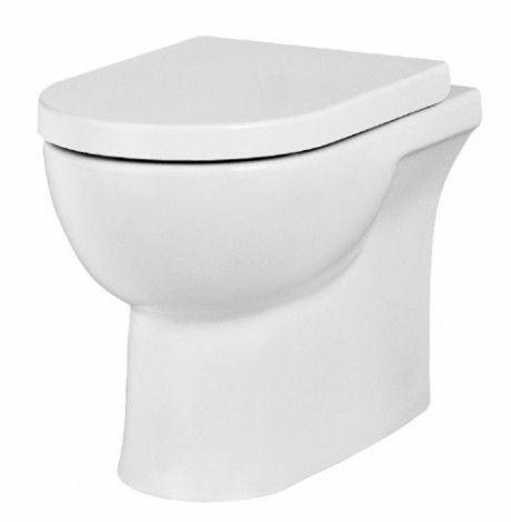 Saneux Austen 50074 White Back to Wall Pan