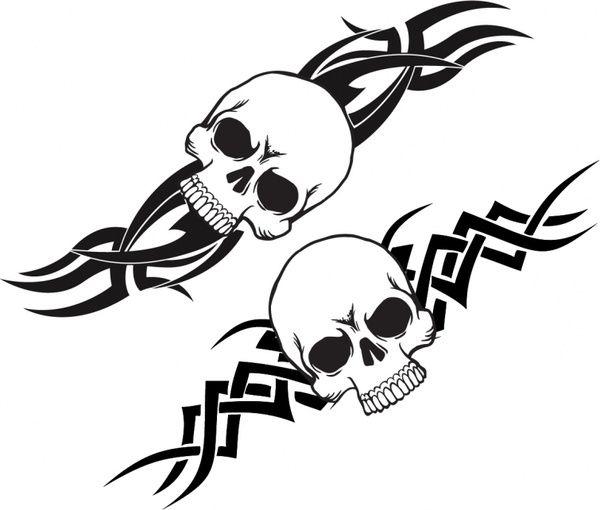 free tribal band Stencils Templates | Scary tattoo Free vector in Adobe Illustrator ai ( .AI ), Encapsulated ...