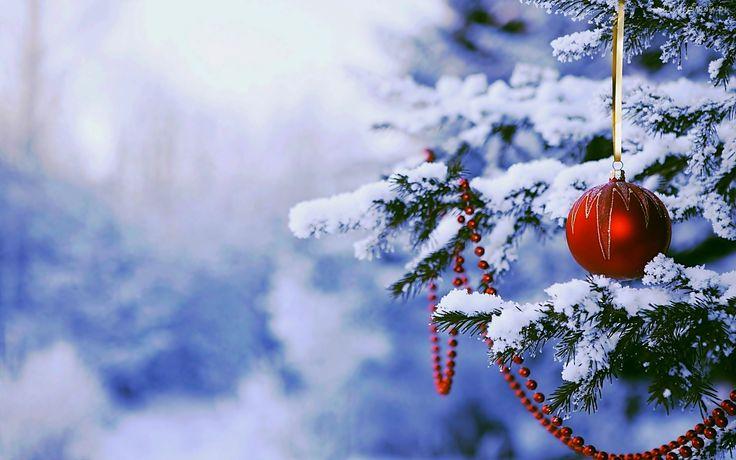Bombka, Choinka, Śnieg