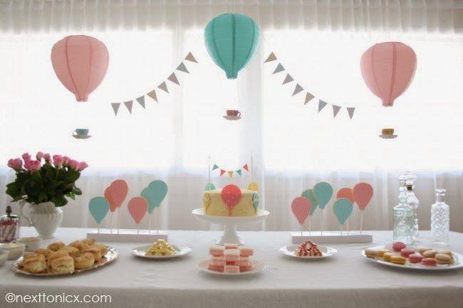 Globos aerostaticos para decorar baby shower