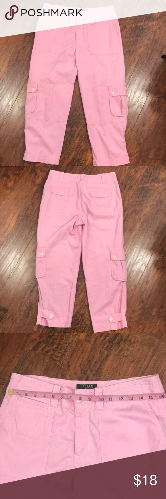Lauren Ralph Lauren Size 8 Pink Capris EUC Cotton/rayon blend  No stains, no rips  O316 Lauren Ralph Lauren Pants Capris