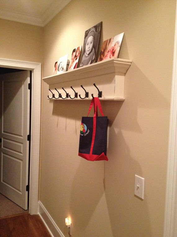 Exceptionnel Coat Rack Wall Shelf With Hooks Towel Hook By RaysCustomWoodwork