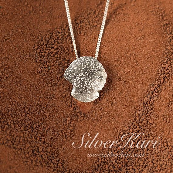 Lagotto Romagnolo, necklace in sterling silver