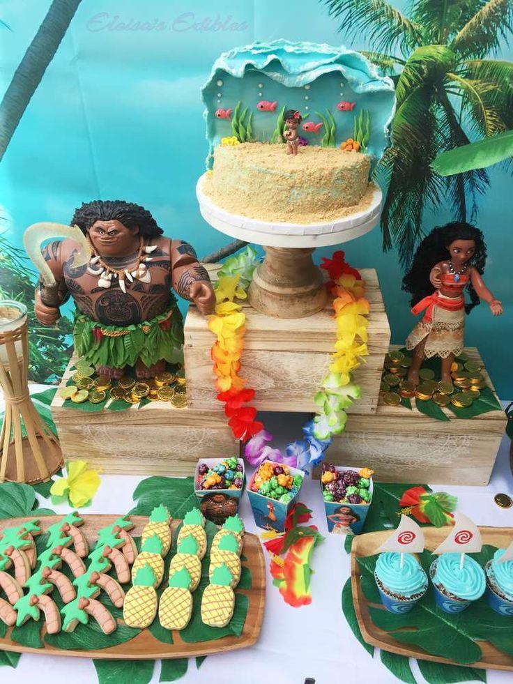 Hawaiian Birthday Party Cakes