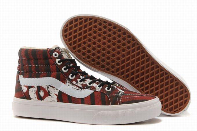 cb3065241d Vans SK8-Hi Picasso Dark Red Men s Shoes  Vans