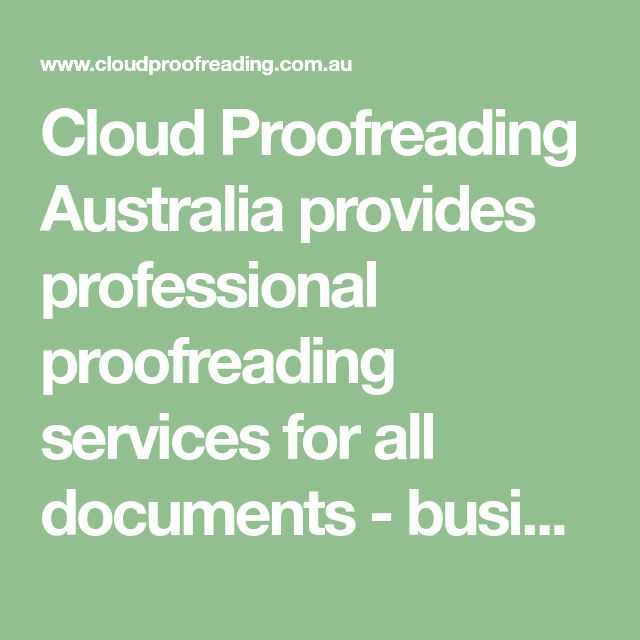 Proofreading service australia