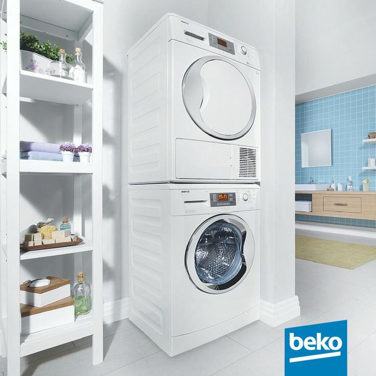 Space Saving! The Beko laundry stacking kit is a smart space saving solution. In a 60cm foot print, you can stack a 60cm deep Beko washing machine and a 60cm deep tumble dryer. Learn more here: http://bit.ly/1jPVQJE #beko #smartsolutions #laundry #washingmachine #tumbledryer