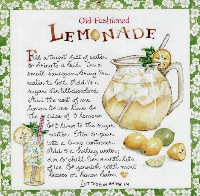 Art, Fashion Lemonade, Susan Branches Photos, Branches Recipe, Susan Branches Lv, Things Susan, Susan Branches Summer, Branches Design, Lemonade Recipe