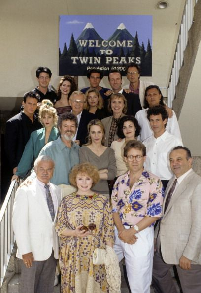 Twin Peaks cast with Mark Frost and Angelo Badalamenti. Maybe Lynch was behind the camera?