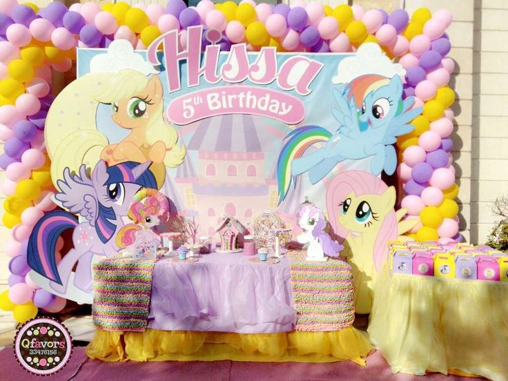 Check out this adorable My Little Pony Birthday Party!! The dessert table is stunning. See more party ideas and share yours at CatchMyParty.com #mylittlepony #party