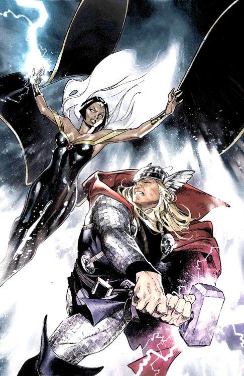 Thor vs Storm - Olivier Coipel