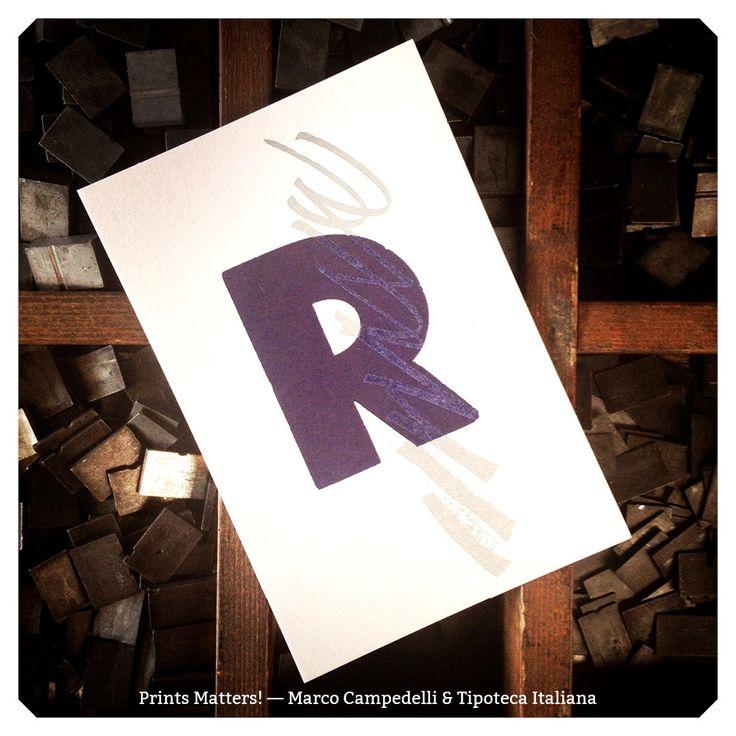 """— R — """"Print Matters!"""" è una collaborazione di Marco Campedelli & Tipoteca Italiana — presso Tipoteca Italiana. #printmatters! #marcocampedelli #tipotecaitaliana #letterpress #index"""