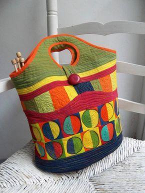bolsa de patchwork por Sakamaliss en Etsy                                                                                                                                                                                 Más