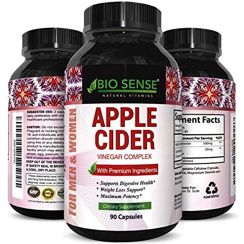 Apple Cider Vinegar Weight Loss Supplement Natural Detox Fat Burner