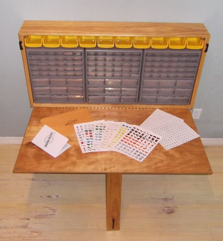 Lego storage use a nail and screw organizer for the poor for Fold up nail table