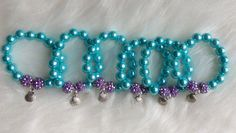 Ariel inspired party favor bracelets.. Ariel party.. Ariel bracelets.. The little mermaid jewelry.. Party favors