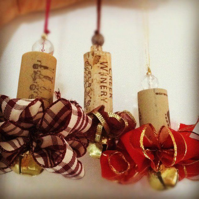 crafts with wine | Wine Cork Rudolph the Red-Nosed Reindeer Christmas Tree Ornament