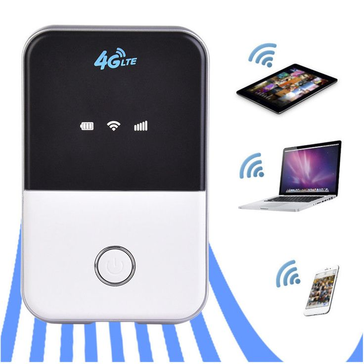 Portable 3G 4G Router LTE 4G Wireless Router Mobile Wifi Hotspot SIM Card Slot for Mobile Phone
