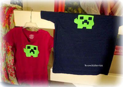Lav din egen minecraft creeper T-shirt med strygestof