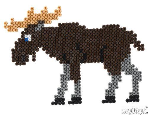 Elch - Hama Perlen // Moose - Beads perler
