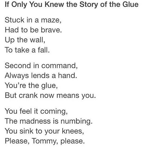 Poem for Newt♥ NOOOOO!!! I WASN'T Ready FOR THIS!!!