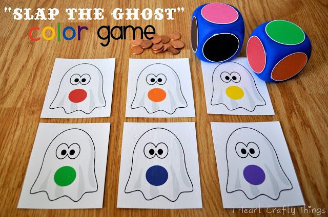 """I HEART CRAFTY THINGS: """"Slap the Ghost"""" Halloween Color Game"""