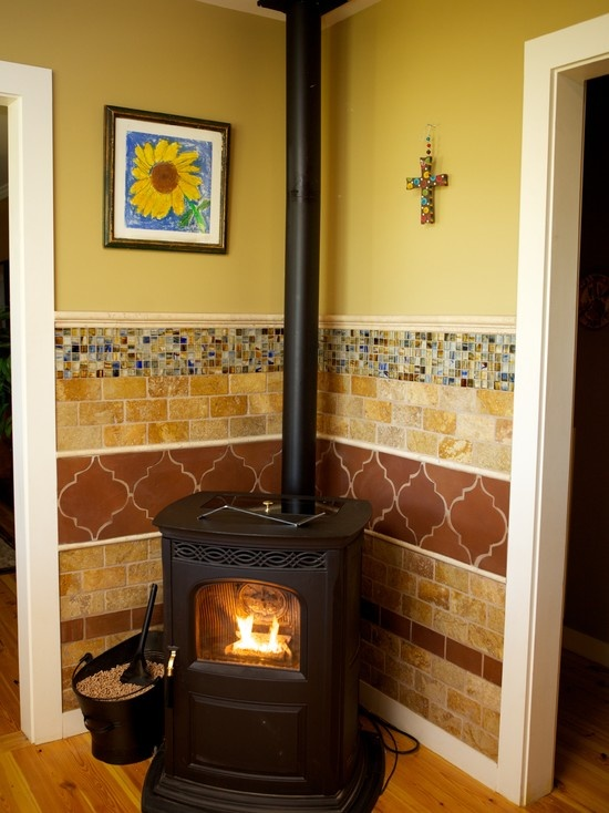 21 best pellet stove ideas images on pinterest fireplace - Living room with wood burning stove ...