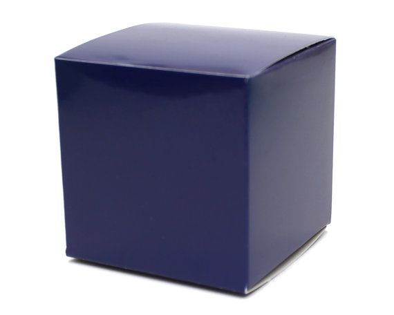 Navy Blue Box 3x3x3 10 Party Favor Boxes 1st Birthday Party