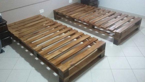 Base de cama de pallet - solteiro