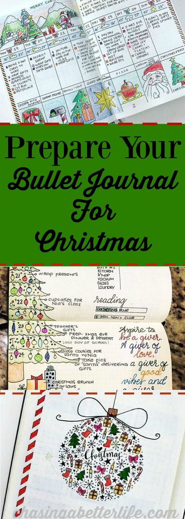 Prepare your Bullet Journal for Christmas