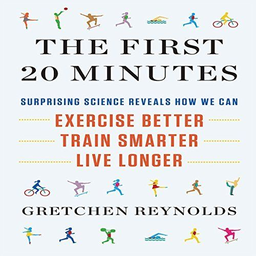 """The First 20 Minutes"" by Gretchen Reynolds, narrated by Karen Saltus is a health & fitness audiobook that  tackles the questions we all have and (sometimes) ask about exercise. Consulting experts in physiology, biology, psychology, neurology, and sports, Gretchen Reynolds uncovers how often we should exercise, how long workouts should be, how to avoid injury, and how to find the right form, routine, and equipment for our goals."