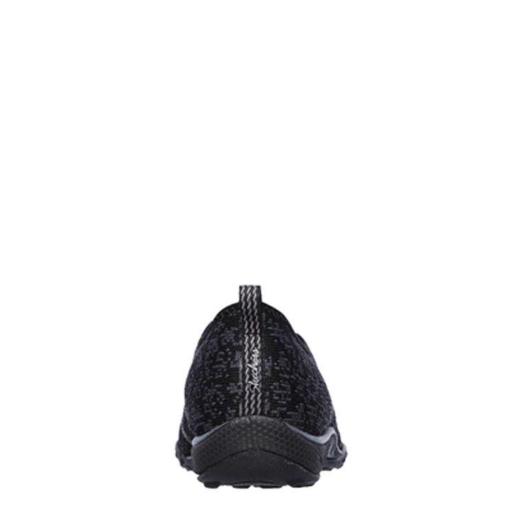 Skechers Women's Breathe Easy Just Chill Memory Foam Slip On Sneakers (Black)
