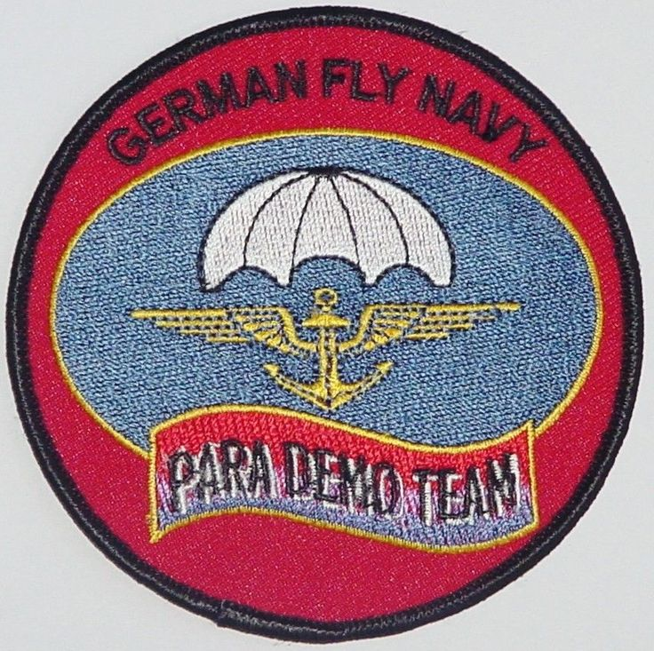 Marine Aufnäher Patch German Fly Navy Para Demo Team