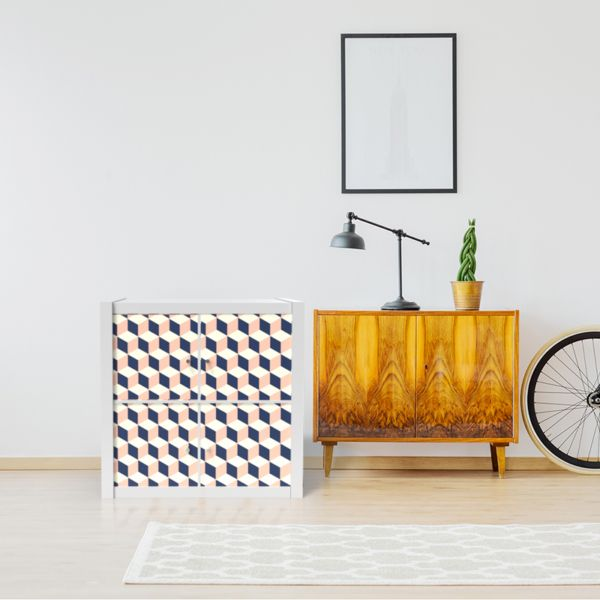 Sticker Kallax Cubes Vintage Kusthome Shop En 2020 Meuble Kallax Mobilier De Salon Kallax