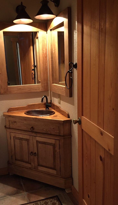 Best 25 corner bathroom vanity ideas on pinterest his - Corner bathroom sink vanity cabinet ...