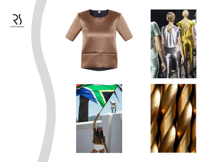 silver metallic vest - Ranita Sobanska  #rs #moodboard #fashion #ReadyToWear #PolishFashionDesigner #FashionDesigner #designer #sportfashion #ModaPolska #PolscyProjektanci #gold #metallic #blouse