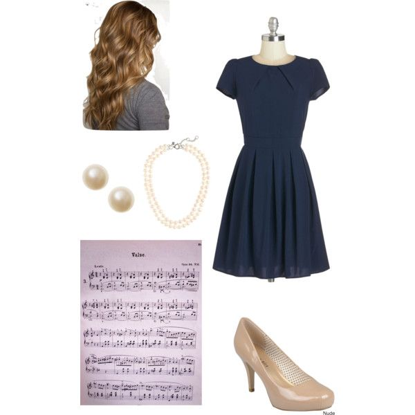 Piano competition/recital outfit. Competition Cutie (Spring) by all-american-nerd on Polyvore featuring Steve Madden and J.Crew